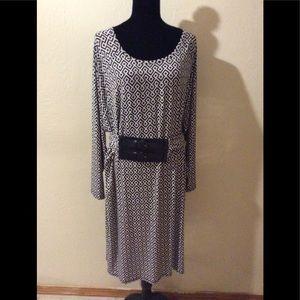 Michael Kors Dress black and white size 2x